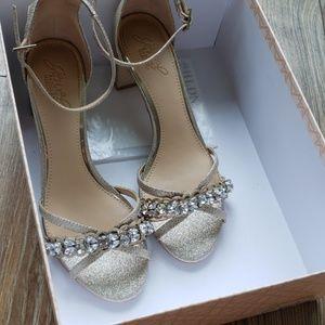 Jewel by Badgley Mischka, BHLDN wedding heels